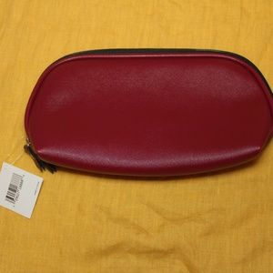 Nordstrom Large Red Cosmetic Bag